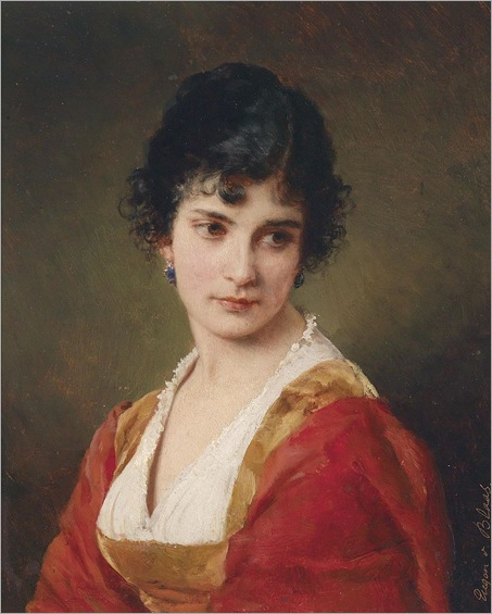 Portrait Of A Young Lady-by-Eugene-de-Blaas