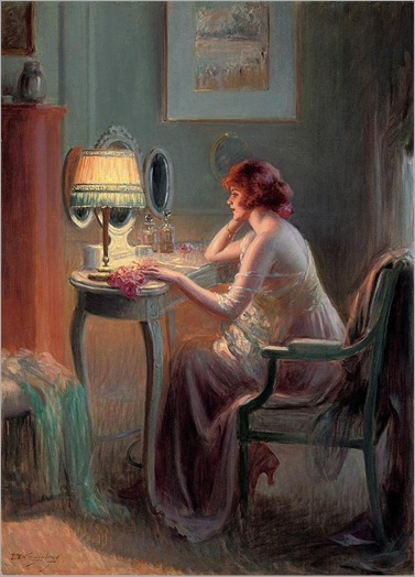 Reflections by lamplight - Delphin Enjolras