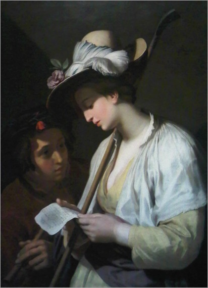 Shepherdess Reading (1628). Abraham Bloemaert (Dutch, 1564-1651)