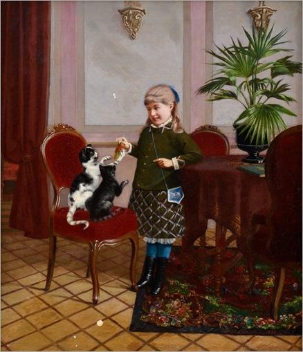 Sigfrid August Keinänen 1841-1914-menina com gatos_600x697