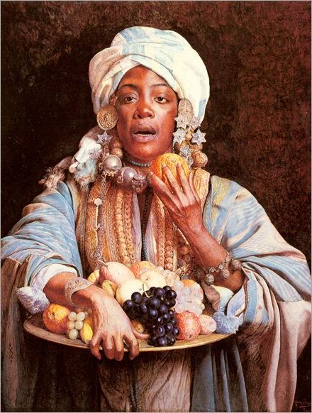 Signorini-Giuseppe-A-North-African-Fruit-Vendor
