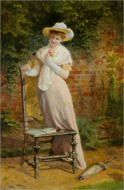 Smith_Carlton_Alfred_In_The_Garden_1897