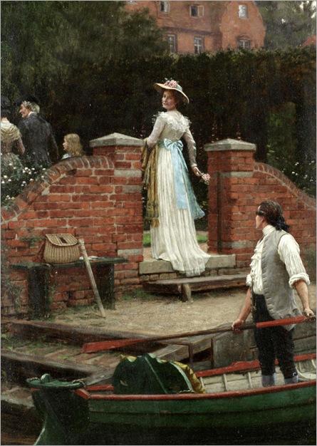 The glance that enchants -Edmund Bair Leighton