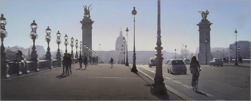 Thiery Duval-Le jogger et le joint de dilatation du Pont Alexandre III