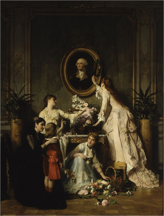 Washington's Birthday-by Charles Baugniet