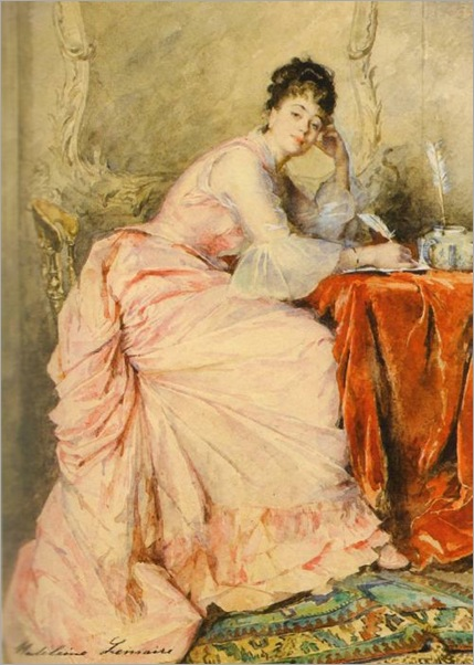 Young Lady in Pink by Madeleine Jeanne Lemaire