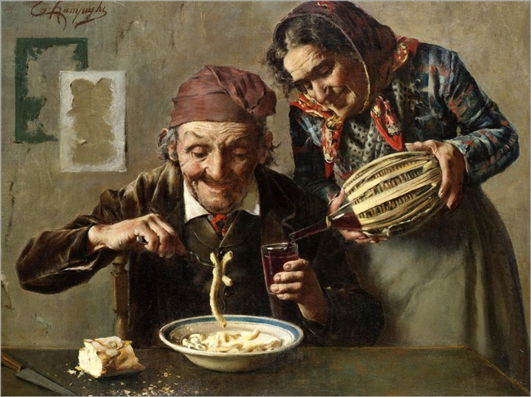 A hearty meal - Eugenio Zampighi