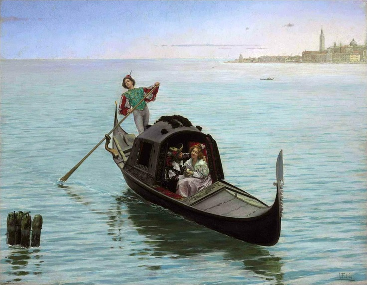 A Romantic Gondola Ride in Venice - Antonio Fabres y Costa