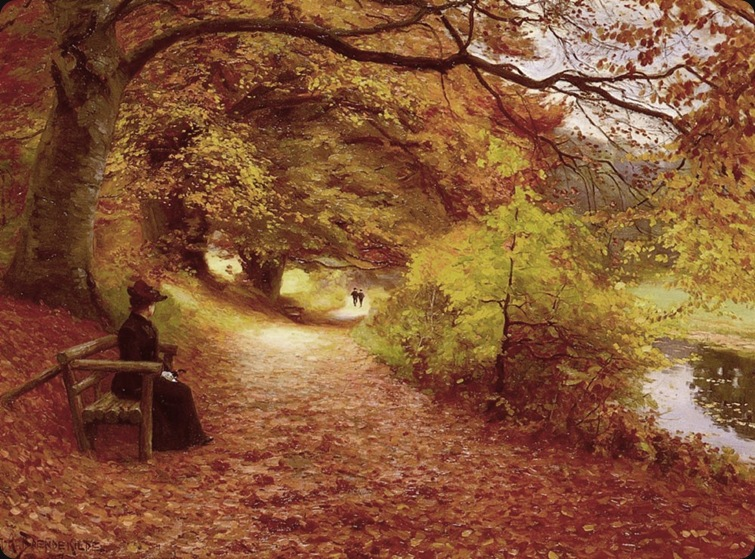 A Wooded Path In Autumn-HansAnderson-Brendekilde