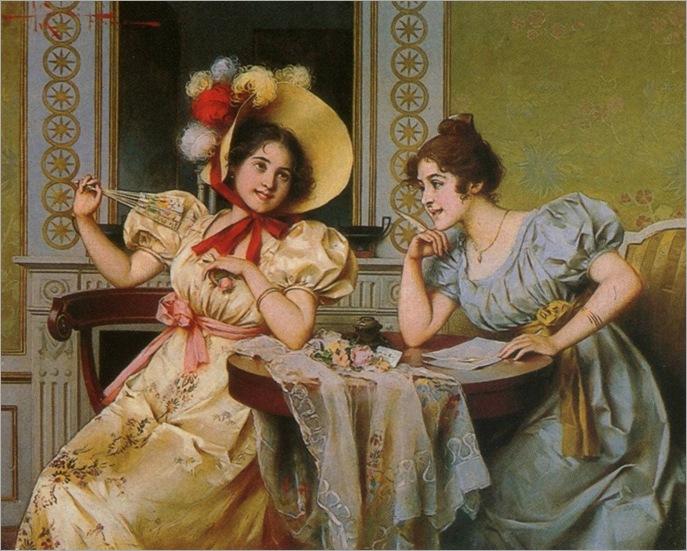 Adriano Cecchi (italian, 1825-1903)_composing the love letter_959x768