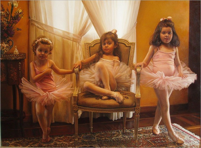 Ballerina Cute Girl by Antonio Capel
