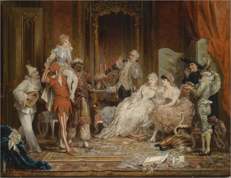 Carl Schweninger Jr. (1854-1903) - Masked ball