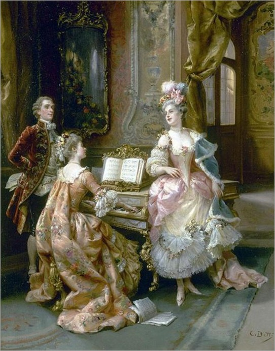 Cesare Auguste Detti (1847-1914) - The singing lesson