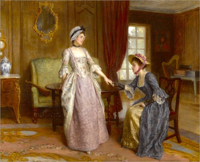 Charles Haigh Wood (english, 1854-1927)- The Engagement