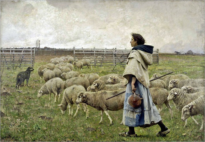 Charles Sprague Pearce - The Return of the Herd