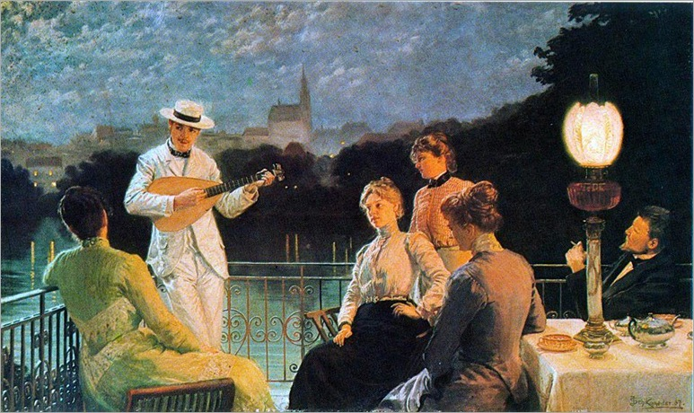 Company on the Terrace - Jacob Schikaneder-1887