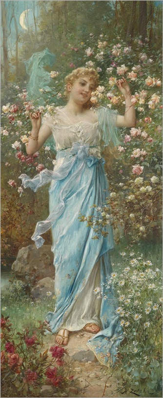 Dancing Amongst the Flowers _ Hans Zatzka