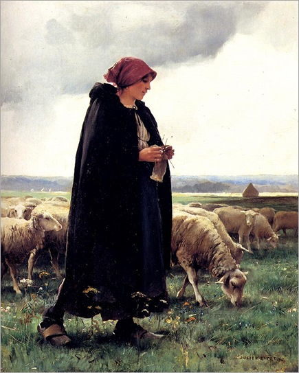 Dupre_Julien_A_Sheperdess_With_Her_Flock