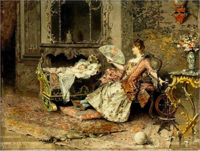 Edouard Toudouze (french)_Watching The Baby
