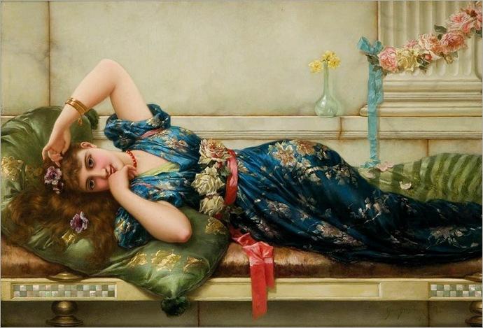 emile-eisman-semenowsky(1857-1911)-the-relaxation