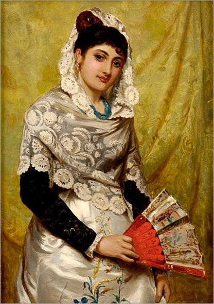 espanhola com leque-John Haynes-1878