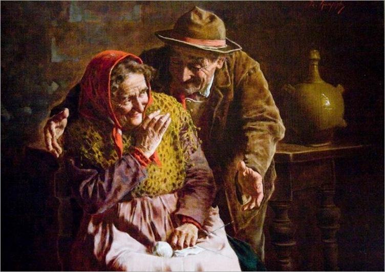 Eugenio Eduardo Zampighi_(italian, 1859-1944) Peasant man and woman