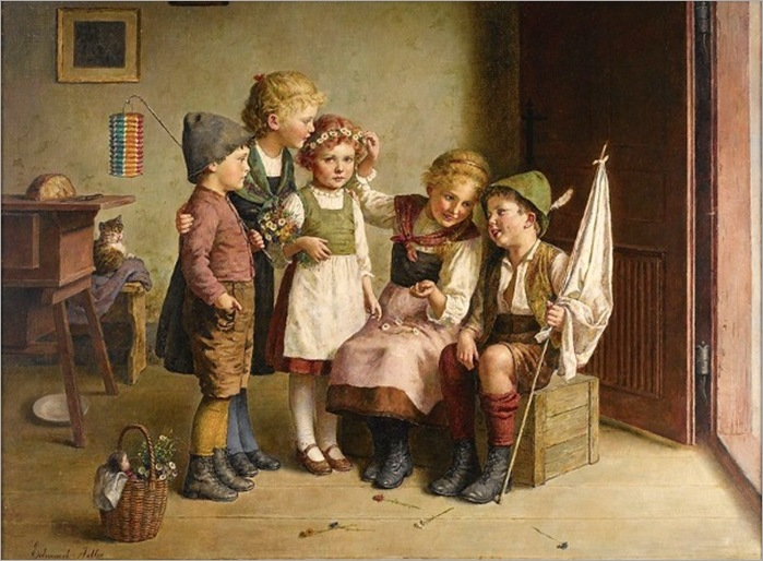 five-children-Edmund Adler (1876 – 1965, Austrian)