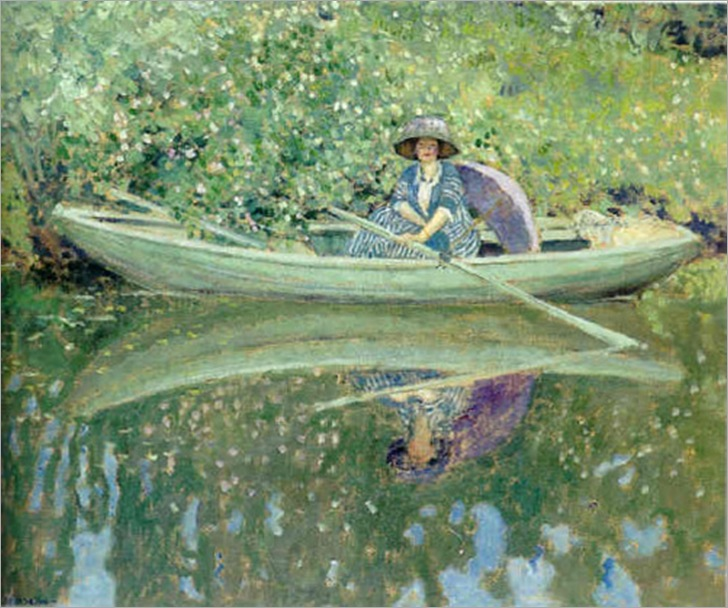 Frederick Carl Frieseke, On the River, (1909)