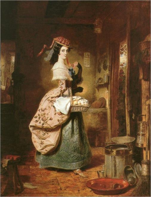 George Lance (british-1802-1864)_the village coquette_768x1001