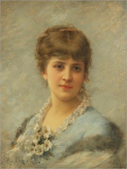 Girl with Apple Blossoms-Emile-Eisman-Semenowsky-(polish-1857-1911)
