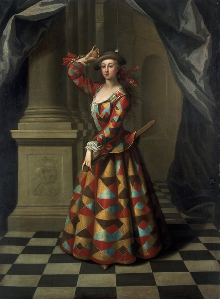 Hester Booth as Harlequin Woman - John Ellys- 1722-1725