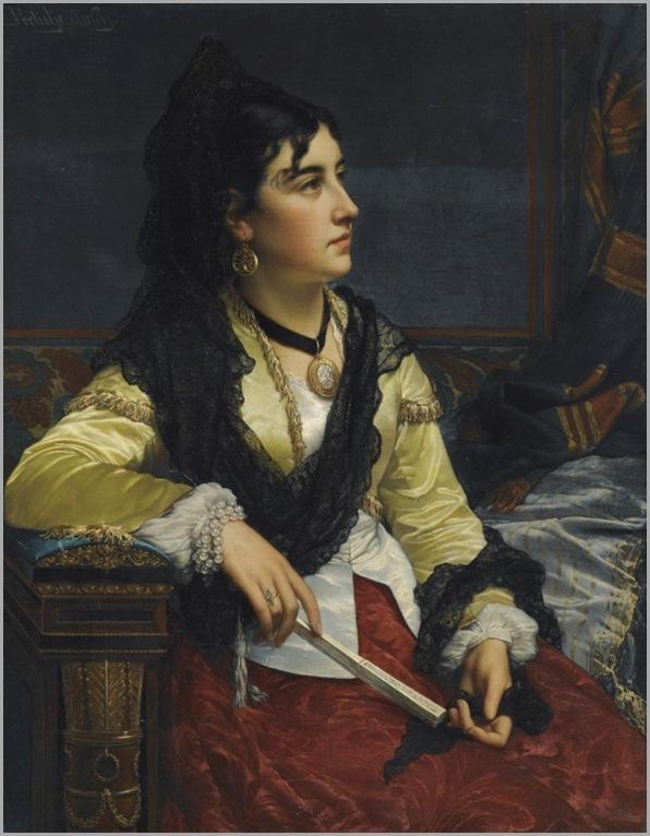 Jan Frederick Pieter Portielje -girl with mantilla