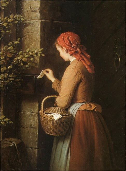 Johann Georg Meyer von Bremen (german, 1813-1886)_the letter_753x1024
