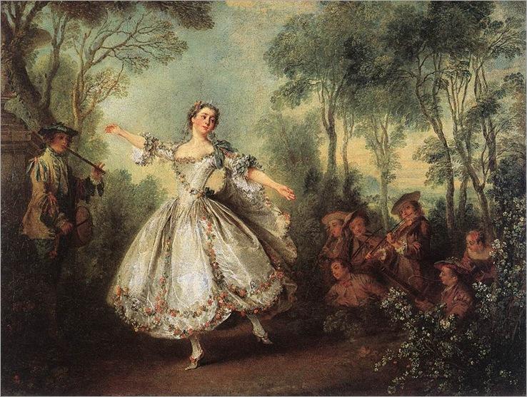 Mademoiselle de Camargo Dancing (1730). Nicolas Lancret (French,1690-1743)