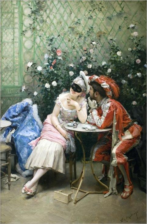 Masqueraders - Raimundo de Madrazo y Garreta-1875