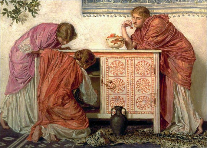 Pomegranates, 1866-by Albert Moore