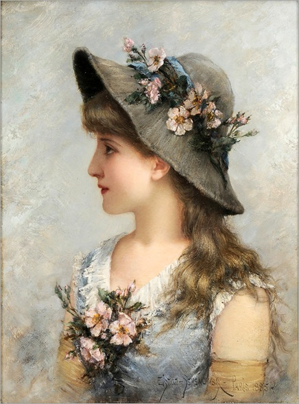 Portrait of a Young Girl (1885) by Emile Eisman-Semenowsky (1857-1911)