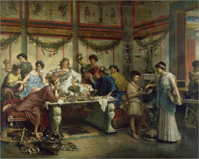 Roberto Bompiani (Roma 1821-1908) - festa romana