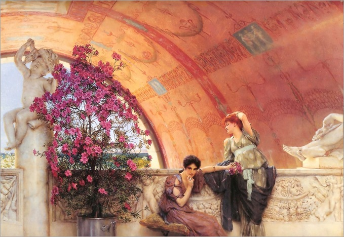 Sir Lawrence Alma-Tadema - Unconscious Rivals_1024x705