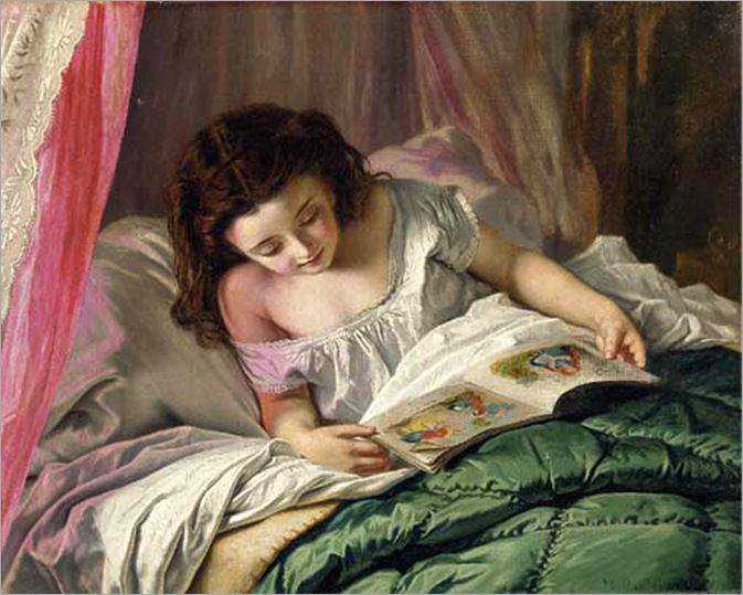 sophie_gengembre_anderson (pre-raphaelite)_reading_time