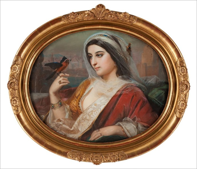 Sophie_Rochart_France_1810_Beauty_with_a_bird
