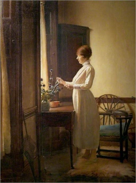 Summer morning interior, 1917-by-Ernest-Townsend