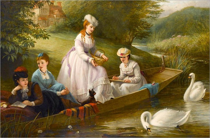Thames Swans - Thomas Brooks-1871