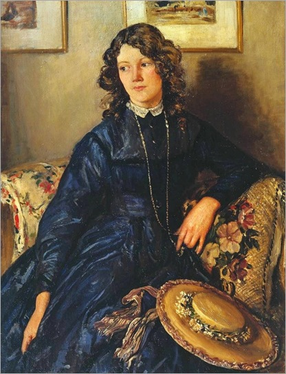 The Blue Dress - 1911-Walter Russell (english painter)