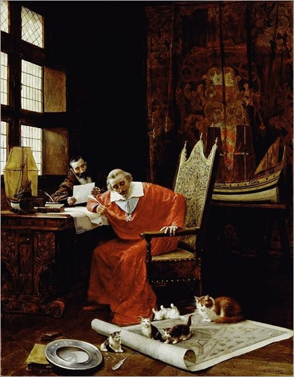The Cardinal's Leisure. Charles Edouard Delort (1841-1895)