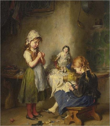 the little seamstress - Heinrich Hirt
