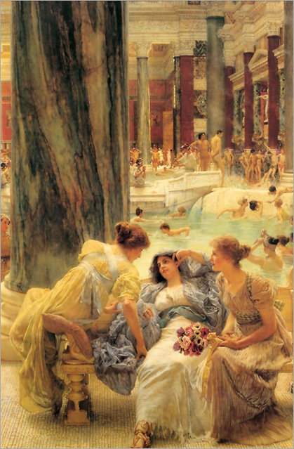 the_baths_of_caracalla-Sir Lawrence Alma-Tadema (1836-1912)