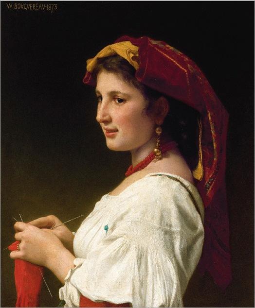 Tricoteuse (1873)-Bouguereau
