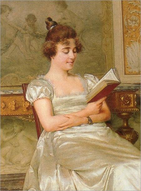 Vittorio Reggianini (italian, 1858-1938)_an amusing read_756x1024