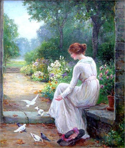 walbourn_Ernest-womanfeedingbirds